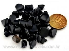 Obsidiana Negra Pedra de Garimpo Rolado Miudo Pacotinho 20 Gr Mineral Natural