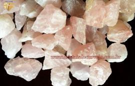 1kg Quartzo Rosa Cascalho em Bruto REFF CR2341