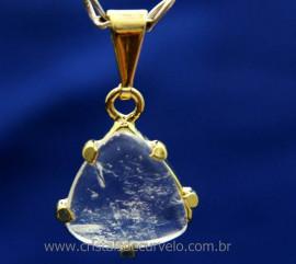 Pingente Trillion Cristal Montagem Garra Dourado Reff PT4729