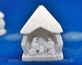 Presepio Esculpido Pedra marmore branco Artesanato REF PP2820