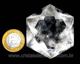Estrela De Davi Ou Selo de Salomão Pedra Cristal cod ED4383