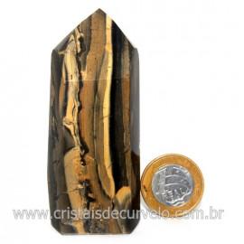 Ponta Onix Preto Pedra Natural Gerador Sextavado Cod 128905