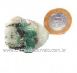 Esmeralda Canudo Incrustado Matriz Xisto Pedra Natural Cod 121317