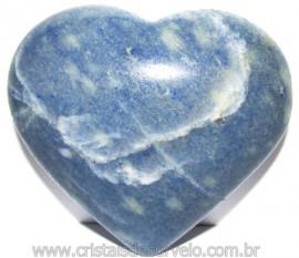 Coração Quartzo Azul Pedra Natural de Garimpo Cod 114994