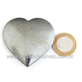 Coração Hematita Pedra Natural Lapidação Manual Cod 121880