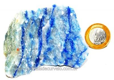 Quartzo Azul ou Aventurina Azul Pedra Bruto Natural Cod QA6459