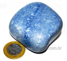 Massageador De Seixo Pedra Quartzo Azul Natural Cod 106011