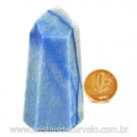 Ponta Quartzo Azul Pedra Natural Gerador Sextavado Cod 127778