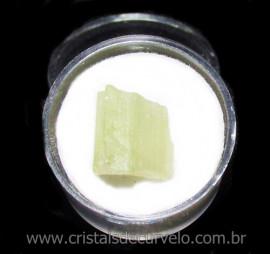 Espodumena Verde Fonte Litio Pedra Natural No Estojo 115665