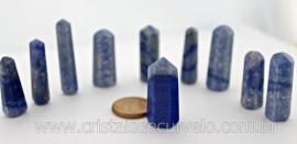 10 Pontinha Gerador QUARTZO AZUL Pedra Extra Lapidado Tamanho 2.5  Cm