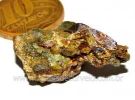 Esfenio Titanita Verde Pedra Bruto Mineral Natural  Cod ET8723