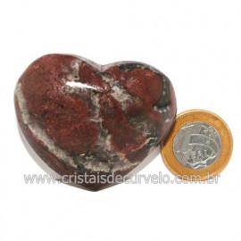 Coração Pedra Quartzo Jiboia Natural Lapidação manual Cod 118984
