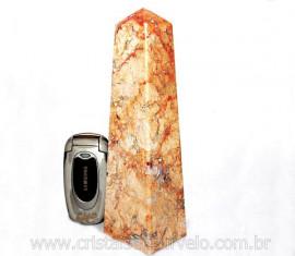 Obelisco Geodo de Calcedonia Geodo Pedra Raro e Natural Lapidado OC6930