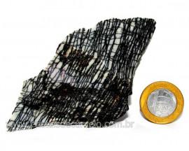 Jaspe Net Pedra de Garimpo Com Listras Naturais Cod JN3197