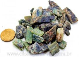 Cianita Verde Canudo Pedra Bruta Natural Pacotinho 100 Gr Mineral Natural
