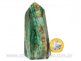 Ponta Fuxita Verde Pedra Natural Mineral Garimpo Cod PF7070