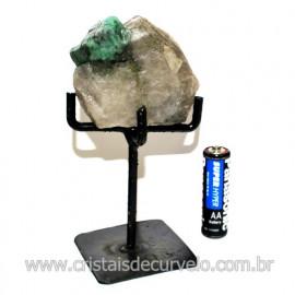 Esmeralda Canudo Pedra Natural com Suporte De Ferro Cod 119346