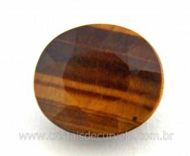 Gema Pedra Olho de Tigre Oval Facetado 4ct 12mm Reff GO5791