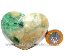 Coraçao Jade Verde Natural Origem Montes Claros MG Cod 117883