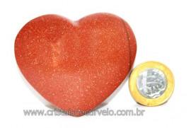 Coração Pedra do Sol Pigmento Dourado Extra Qualidade CS4473