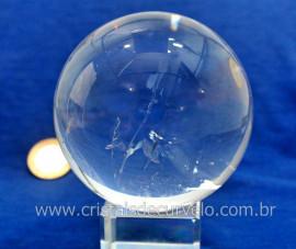 Esfera Bola de Cristal Pedra Quartzo Extra Transparente Tamanho G Cod 720.1