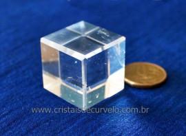 Cubo de Cristal Extra Sólido de Platão Facetado Reff 107906