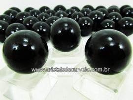 03 Mini Bola Cristal Negro Esfera Pedra Natural e Pequena KIT