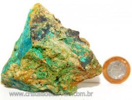 Crisocola Bruto Natural Pedra Nativa do Cobre Cod 109004
