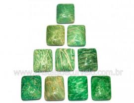 10 Retangulo Cabochao pra Pingente Pedra Amazonita Verde Calibrado 15 x 20 MM