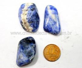 03 Sodalita Azul Pedra Rolado Unidade Boa Qualidade Ideal Montagem de Artesanato  Ref 32.4