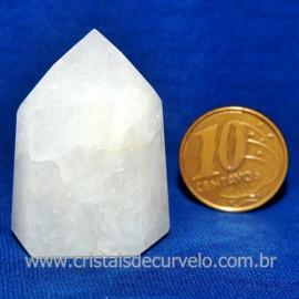 Ponta Quartzo Leitoso Lapidado Gerador Sextavado Cod 118132