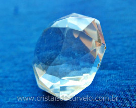 Diamante Natural Cristal Super Extra Quartzo De Garimpo Lapidação Manual Cod 91.3