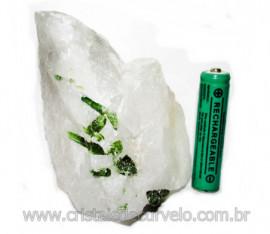 Turmalina Verde Canudo Extra Incrustado no Quartzo Cod 104704