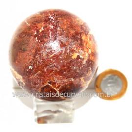 Esfera Quartzo Jiboia Pedra Natural Lapidação Bola cod 124174