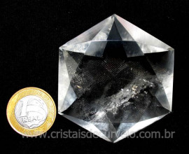 Estrela De Davi Ou Selo de Salomão Pedra Cristal cod ED6855