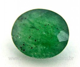 Gema Quartzo Verde Natural Oval Facetado 4ct 11mm Ref GQ9274