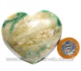 Coraçao Jade Verde Natural Origem Montes Claros MG Cod 117882