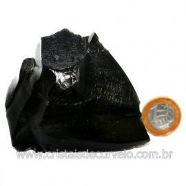 Obsidiana Negra Mineral Vulcanico Pedra Natural Cod 123978