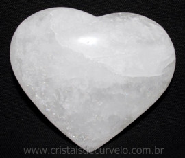 Coração Quartzo Leitoso Pedra Natural De Garimpo Cod 114984