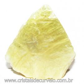 Chapa de Mica Amarela Bruta Natural de Garimpo Cod 115598