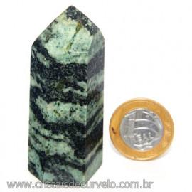 Ponta Pedra Quartzo Brasil Natural Gerador sextavado 113876