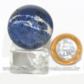 Esfera Sodalita Azul Bola Pedra Natural Garimpo Cod 126916