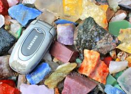1kg Cascalho Colorido Pedras Bruto Para Orgonite Reff RM5743