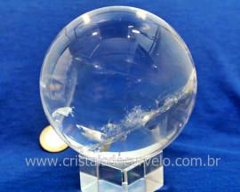 Esfera Bola de Cristal Pedra Quartzo Extra Transparente Tamanho G Cod 1.172