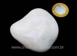 Massageador de Seixo Pedra Quartzo Leitoso Natural Cod ML2011