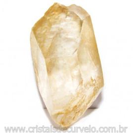 Ponta Quartzo Citrinado Cristal Bruto Tom Amarelo Cod 115249