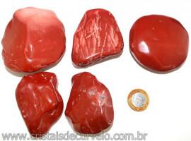 01kg Massageador De Seixo Jaspe Vermelho ATACADO Reff 109397