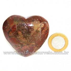 Coração Pedra Quartzo Jiboia Natural Lapidação manual Cod 126885