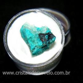 Crisocola Bruto Lasca No Estojo Mineral Natural Cod 118517