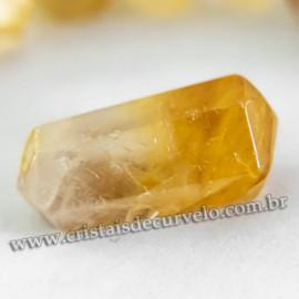 Mini Bi Terminado 25mm Hematoide Amarelo Pedra Extra Lapidado